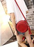 Жіноча кругла сумка, червона ( код: IBG030R ), фото 4