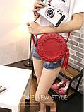 Жіноча кругла сумка, червона ( код: IBG030R ), фото 6