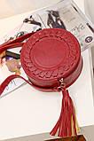 Жіноча кругла сумка, червона ( код: IBG030R ), фото 10