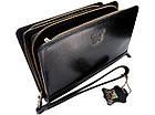 Чоловічий шкіряний гаманець портмоне клатч міні барсетка Abiatti чорний, фото 7