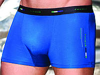 Трусы шорты мужские, модал, с широкой открытой резинкой, без рисунка, с логотипом, Fuko UB 7875