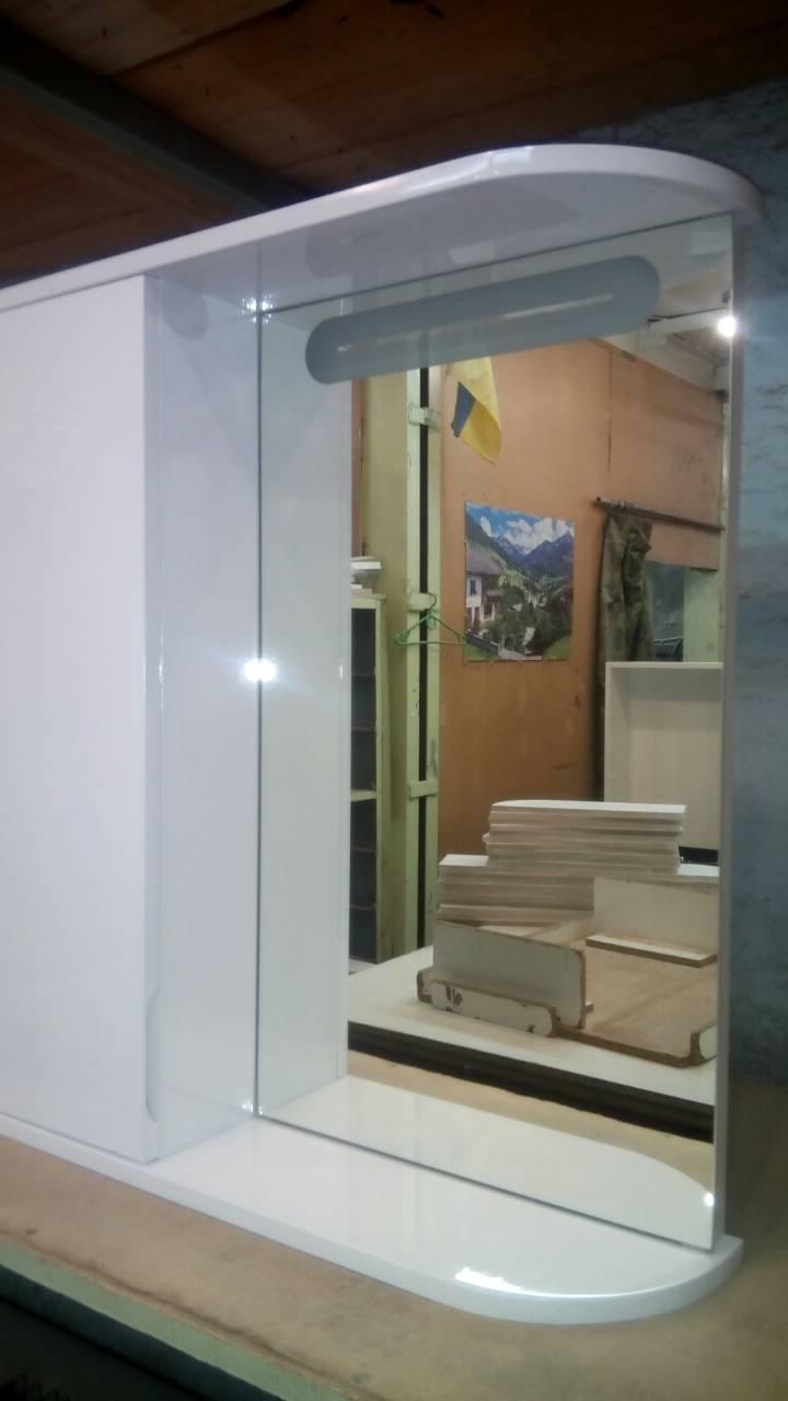Зеркальный шкаф с LED подсветкой ШК600/2 дверь слева