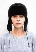 Женская норковая шапка Ушанка, фото 1