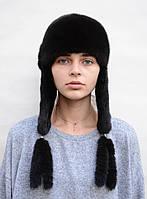 Шапка норковая женская Ушанка (длинные уши), фото 1