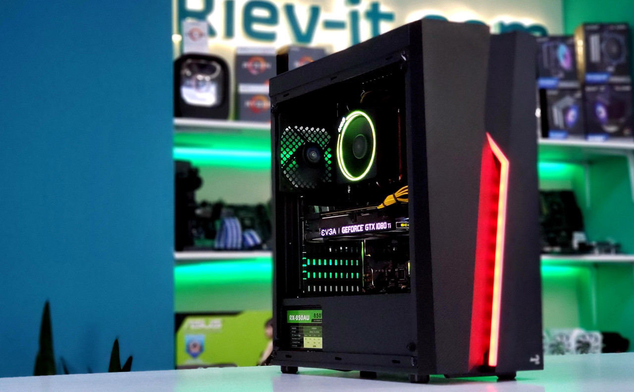 "Игровой компьютер KIEV-IT™ ""Ares"" Ryzen 5 2600X | B450 | GTX 1080 Ti | DDR4 16GB 3000MHz | SSD 480GB | 800W"