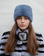 Женская норковая шапка Подковка резинка, фото 1
