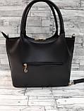Женская стильная сумка из кожзаменителя, цвет черный, фото 5