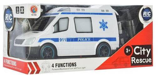 Машинка 688-788-888 (24шт) р/у,20,5см,3вида(скорая,пожарн,полиция), свет,на бат,в коробке, фото 2