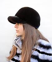 Норковая кепка женская Бейсболка вельвет, фото 1