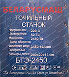 Точило электрическое Беларусмаш БТЭ-2450, фото 2