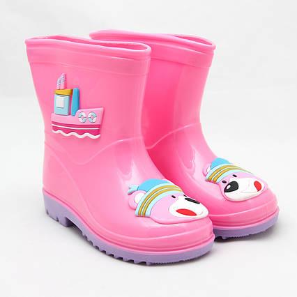 Детские резиновые сапоги, розовые, 20 см (513870-3)