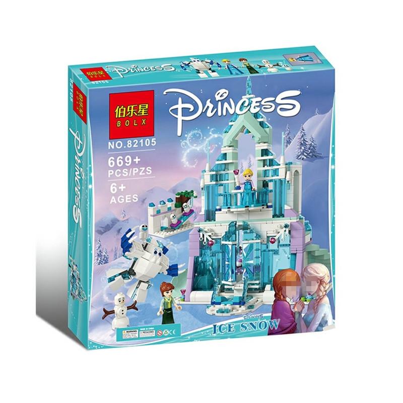 """Конструктор Blx 82105 """"Волшебный ледяной замок Эльзы"""" (аналог Lego Disney Princess 41148), 669 дет"""