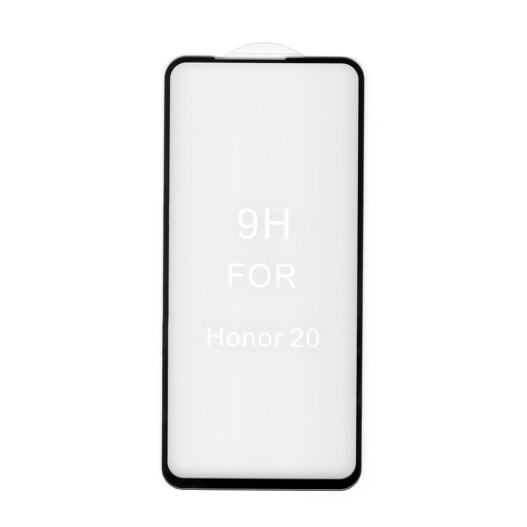 Защитное стекло 5D для Honor 20 (YAL-L21) (черный) (загнутые углы, полный клей (5D))