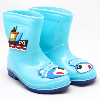 Детские резиновые сапоги, голубые, 20 см (513870-4)