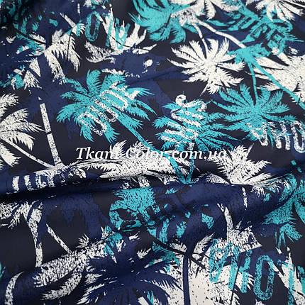 Плащевая ткань канада принт пальмы, фото 2