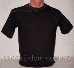 Футболка чоловіча бавовняна в чорному кольорі р 52-54