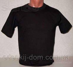 Футболка чоловіча бавовняна в чорному кольорі р 56-58