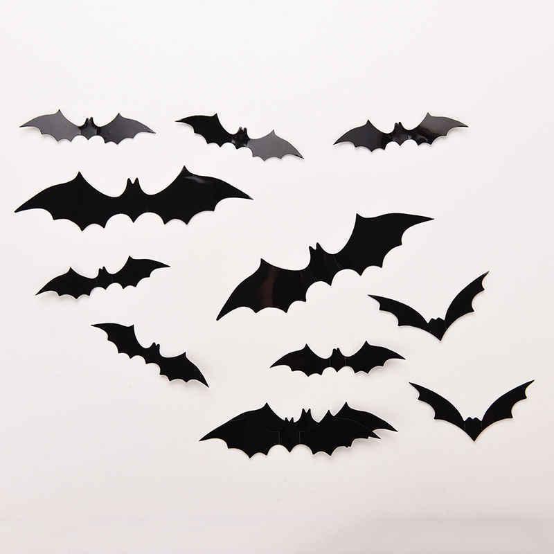 12 шт Набор Летучие Мыши черные 3D