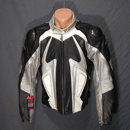 Мотокуртка TEKNIC б/у кожа, фото 2