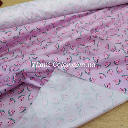 Плащевая ткань лаке принт арбузики, фото 2