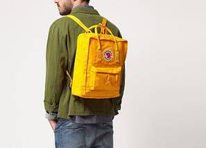 Рюкзак Fjallraven Kanken Classic. Яркий  Желтый .Ручная кладь, фото 3