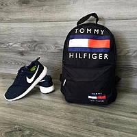 Чёрный городской спортивный рюкзак Tommy, Томми