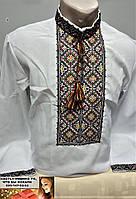 Рубашка вышиванка мужская лен 46-50 и 52-58