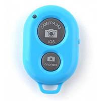 Пульт беспроводной для монопода селфи палки Bluetooth  кнопка блютуз  синяя
