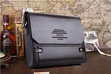 Каркасная мужская сумка-портфель Polo (Поло), под формат А4, коричневый цвет