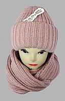 Комплект шапка подвійна і хомут м 5003, різні кольори