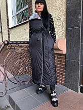 Жилет женский двусторонний Punky Klan черный-серебро 66