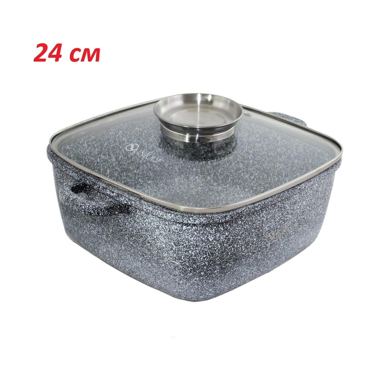 Казан с гранитным покрытием и крышкой UNIQUE UN-5206-24