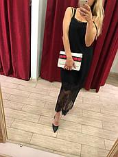 Платье черное с ажурной вставкой, фото 2