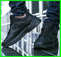 Мужские Кроссовки Nike M2K Tekno Чёрные Найк Кожа (размеры: 41,42,43,44,45,46) Видео Обзор