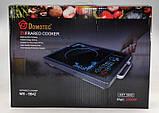 Инфракрасная плита Domotec Германия, настольная электроплита кухонная 2000 Вт любая посуда, фото 2