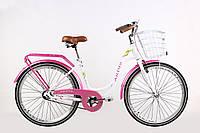 """Велосипед дамский  Ardis Berta 26"""" 17"""" Белый / Городской / с корзиной"""