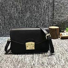 Сумка в стиле Фурла с ремешком / натуральная кожа #927-L Черный