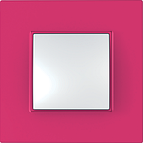 Рамка 2 пост. Unica Quadro Pink MGU4.704.27, фото 2
