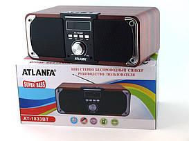 Портативная колонка ATLANFA AT-1833BT Bluetooth, FM, SD USB, дисплей