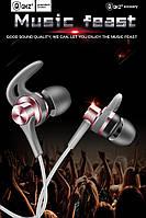 Наушники QKZ EQ1 MP3 DJ Headphones Fone де ouvido Auriculare Rose (розовый) Когда недорого может хорошо играть