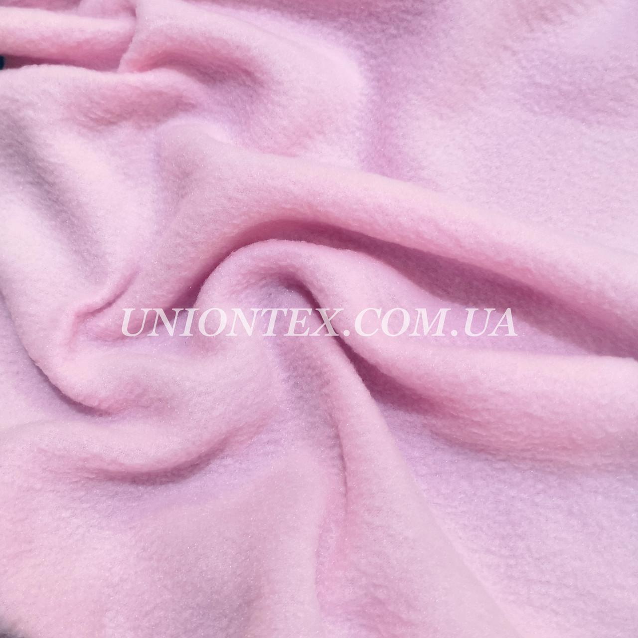 Ткань флис розовый