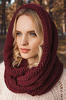 Снуд женский вязаный и перчатки трикотажные