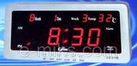 Часы с будильником, календарем и термометром 2158