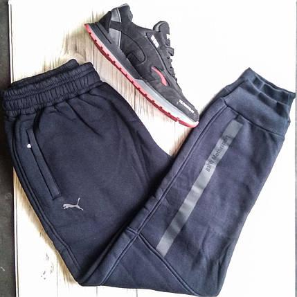 Штаны мужские спортивные Puma Тёмно-синий цвет, фото 2