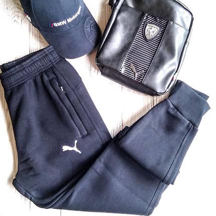 Штаны мужские спортивные Puma синий цвет, фото 2
