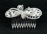 Свадебный гребень в виде банта для волос от Бижутерии оптом RRR -фото. 165