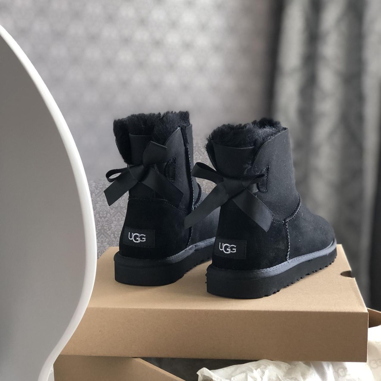 Угги женские в стиле UGG Australia Mini Bailey Bow Black