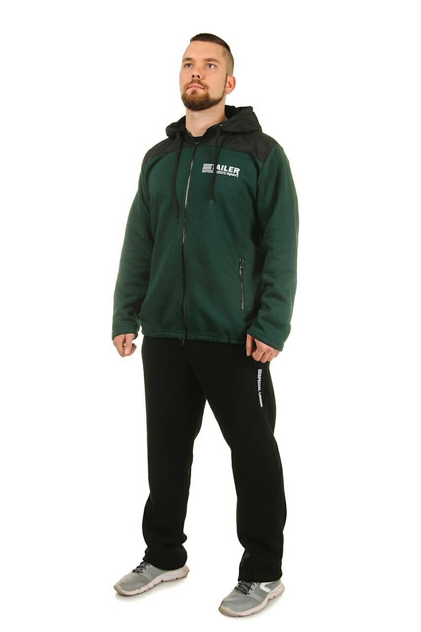 Теплый спортивный костюм мужской Трехнитка на флисе Размер 50 52 54 56 В наличии 4 цвета