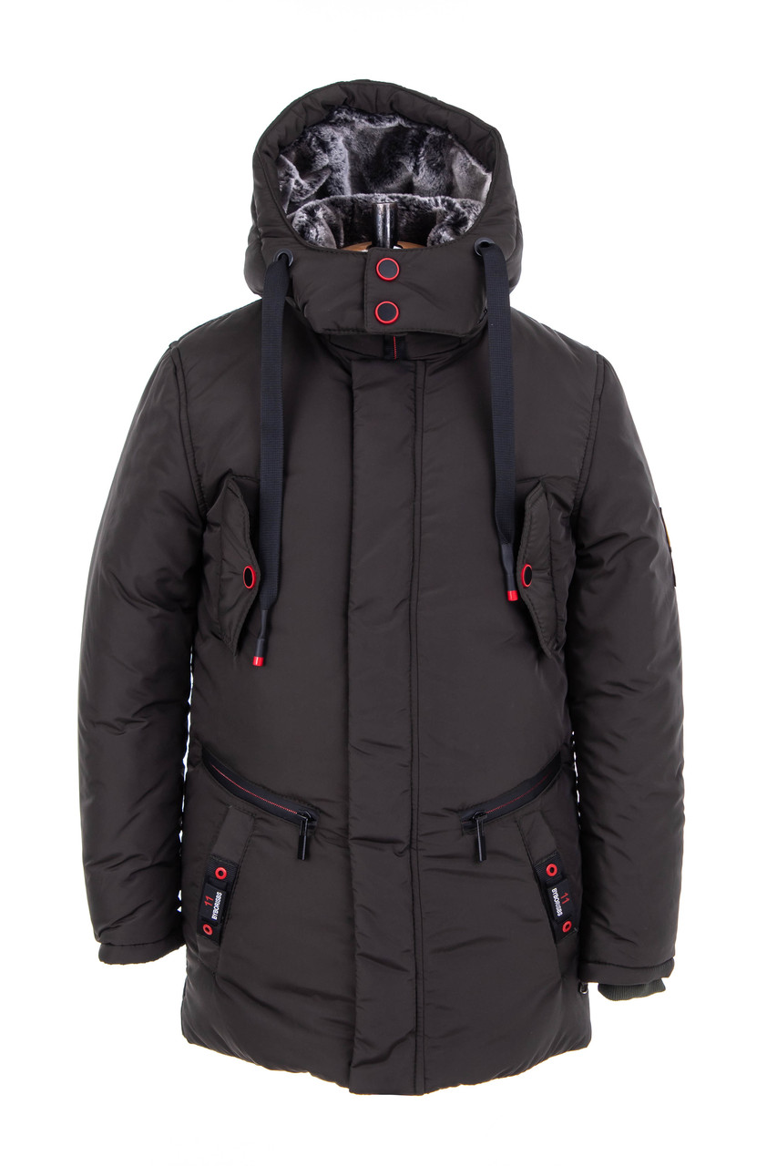 Зимняя куртка для мальчика   32-42 хаки