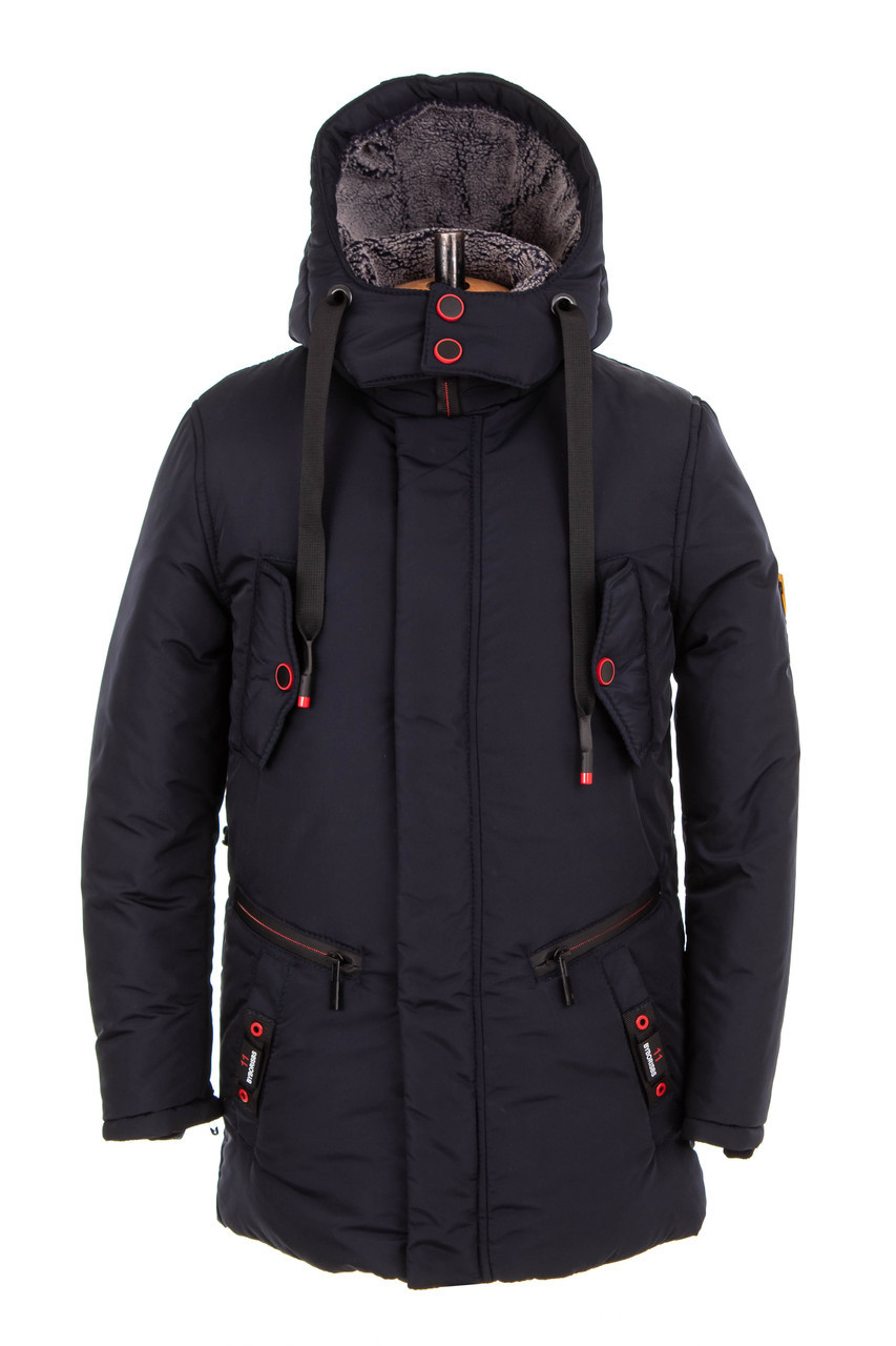 Зимние куртки для мальчиков от производителя 32-42 синий